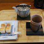 かりんとう - 料理写真:ベイクドチーズケーキ&阿波番茶