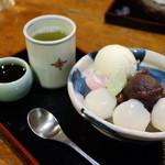 鉢の木 - クリーム白玉あんみつ