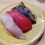 寿司虎  - 炙り寒サバ、本マグロ赤身、寒ブリ