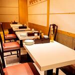 ふるめん - テーブル席
