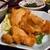 和食 美やま - 料理写真:「若鶏唐揚げといくら醤油漬けのハーフ」の若鶏唐揚げ