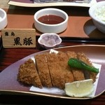 tonkatsuke-waike- - 霧島産  黒豚ロースとんかつ。