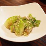 太常うどん - つぼみ菜ごま和え(650円・外税)