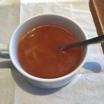 いしがまやハンバーグ - ランチスープ