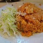 キッチン南海 - 料理写真:チキンライス(大盛)