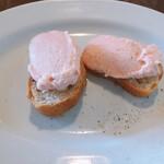 トラットリア ピチコラージョ - 料理写真:タラモのブルスケッタ