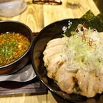 らーめん矢吹 - うまからつけ麺、麺大盛、味玉チャーシュー追加