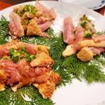 地鶏の里 永楽荘 - 地元どり焼き タレ、塩、ネギ塩