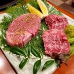 地鶏の里 永楽荘 - 黒牛ヒレステーキ、黒牛ハラミステーキ