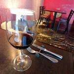 フレンチ ビストロ lemidi - グラス赤ワイン