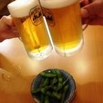 お食事処 さくら - 2012/08/XX 枝豆でカンパーイ!