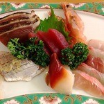 お食事処 さくら - 2012/08/XX 地魚刺身盛り合わせ