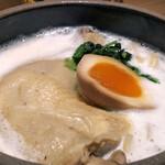 144392259 - 熱々!骨付き鶏の鶏白湯ラーメン膳