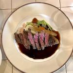 Bisutoropoppuakoko - 日替わりランチ カイノミステーキ