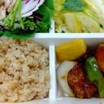 パリヤ - 玄米、黒酢の酢豚 ♪
