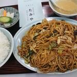 Chuukasobatamiya - ソース焼ソバ+半ライス(785円)