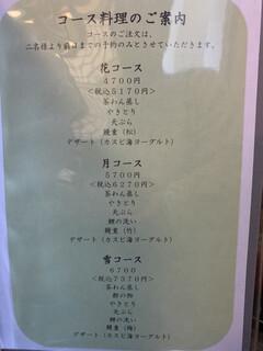 うなぎ はす沼 - メニュー1