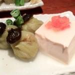 えんざ - 豆腐となすの煮びたし