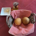 ルミディ - あったかいパン2種まるーいスタンダードパンに ほうれん草パン。おかわり出来ます。 ルックスもキュート❤️