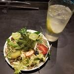 144437126 - detox saladと愛媛産レモンサワー