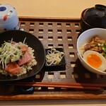 マキバ スタイル - アボカド本まぐろご飯とコラーゲンポークの角煮ご飯