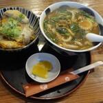 144451051 - カレーうどん&かつ丼セット