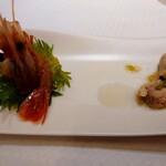 Tentsuusaikan - ボタンエビと温野菜