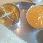 144468406 - 野菜カレーとチキンキーマカレー
