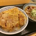 どんどん庵 浅間町店 - かつ丼小うどんセット