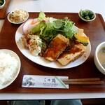 この路 - この路定食¥1,000(チキン南蛮と肉巻き豆腐)
