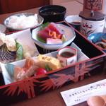 おもてなしどころ 光亭 - 光膳…1500円 お刺身・てんぷら・煮魚・珍味・茶碗蒸し等・・・一つ一つ手作りの自慢作です。