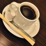 カフェ カスガ - ランチに付属のホットコーヒー2021年1月