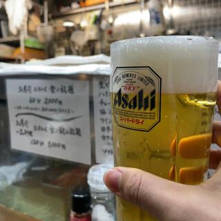 恵寿司 - 生ビール