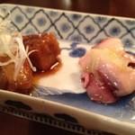 ハーツカフェ - カジキマグロ生姜煮、蛸のマリネ