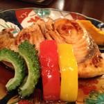 ハーツカフェ - カジキマグロのソテー(舞茸ソテーの上に魚)