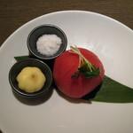 たかの家 - 冷やしトマト(450円)