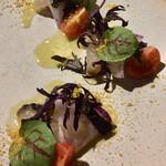 144502932 - 炙り鰆のカルパッチョ 柚子ヴィネグレット