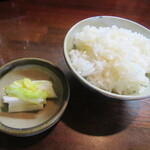 とんかつ藤 - ご飯・お新香