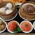 茉莉花 - 料理写真:おこわとエビ蒸し餃子