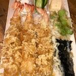 蕎麦屋 山都 - 大海老天丼 ¥1600(税込)
