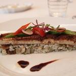 オザワ - 広島産穴子のグリルと麦のサラダ バルサミコの香り