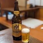 観音食堂 - エビス瓶ビール