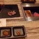 96 NIKUHOLIC - たれ ~ 自家製おろしポン酢かぼす柚子風味、金山寺味噌