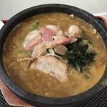 味の大王 知新 - 料理写真:石鍋ホッキカレーラーメン(1,100円)
