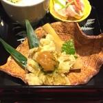 懐石 山よし - 焼き筍・蕗の薹田楽