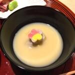 懐石 山よし - 海老芋白味噌仕立て 辛子