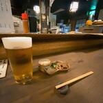 たかさごや - たかさごや@狸小路 生ビールとお通し