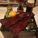 うなぎ 串料理 いづも - 鰻ハラ重