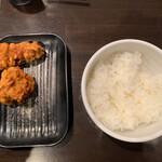 麺屋28 - 唐揚げライスセット 250円