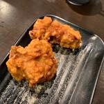 麺屋28 - 唐揚げライスセットの唐揚げ。